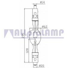 (CB) Ксеноновая лампа OSRAM XBO 3000W/HPS OFR  Xenon