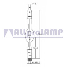 (CB) Ксеноновая лампа Superior Quartz SX4500HTP